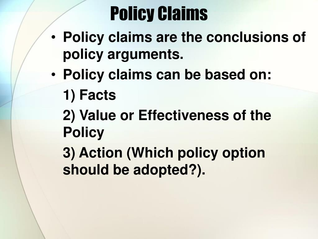 Policy Claims