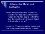 statement of belief and illustration