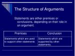 the structure of arguments