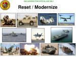 reset modernize