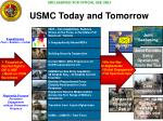 usmc today and tomorrow