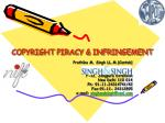 copyright piracy infringement