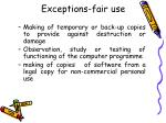 exceptions fair use34
