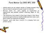 ford motor co 1993 rpc 399