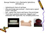 george hensher ltd s restawile upholstery 1975 rpc 31