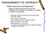 infringement of copyright