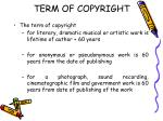 term of copyright