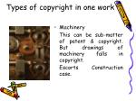 types of copyright in one work26