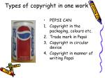 types of copyright in one work27