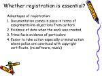 whether registration is essential45