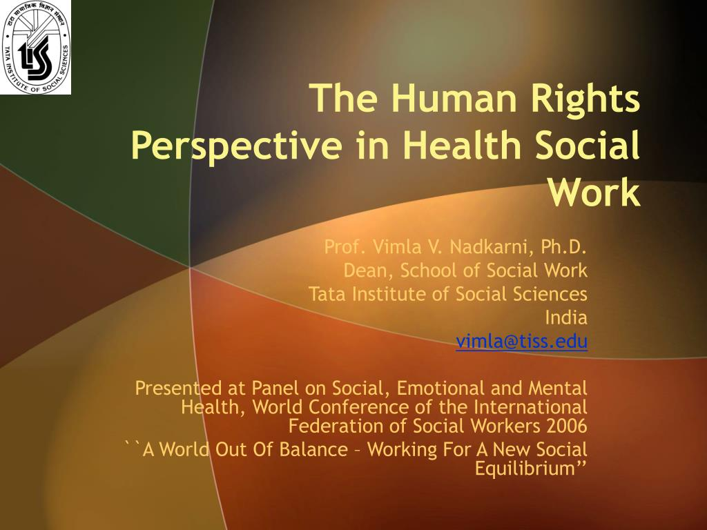 the human rights perspective in health social work l.