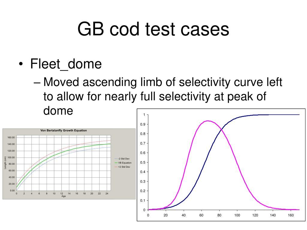 GB cod test cases