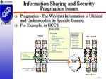 information sharing and security pragmatics issues