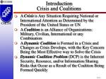 introduction crisis and coalitions