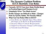 the dynamic coalition problem gccs shortfalls user roles