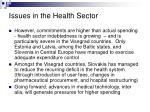 issues in the health sector