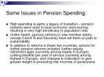 some issues in pension spending