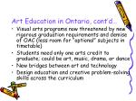art education in ontario cont d11