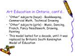 art education in ontario cont d5