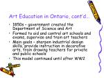 art education in ontario cont d6