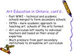 art education in ontario cont d7