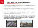 case study fray bentos background