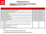 requirements of category a and category b projects