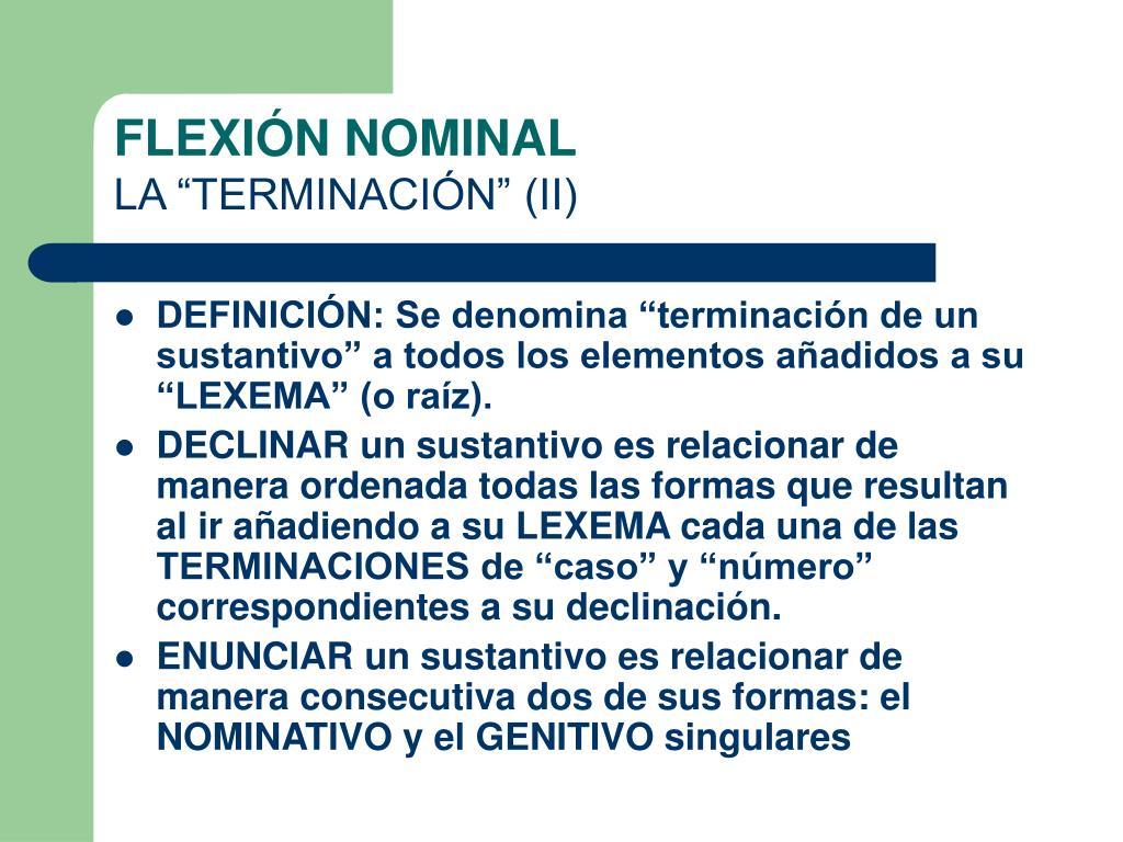FLEXIÓN NOMINAL