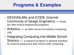 programs examples