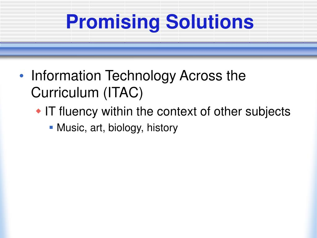 Promising Solutions