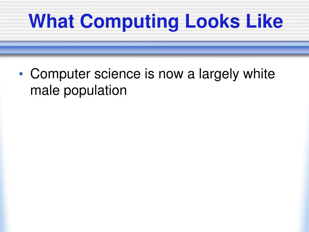 What Computing Looks Like