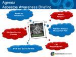 agenda asbestos awareness briefing