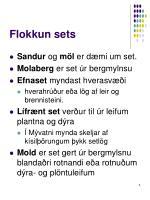 flokkun sets