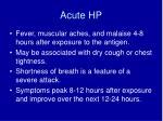 acute hp