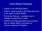 hard metal disease