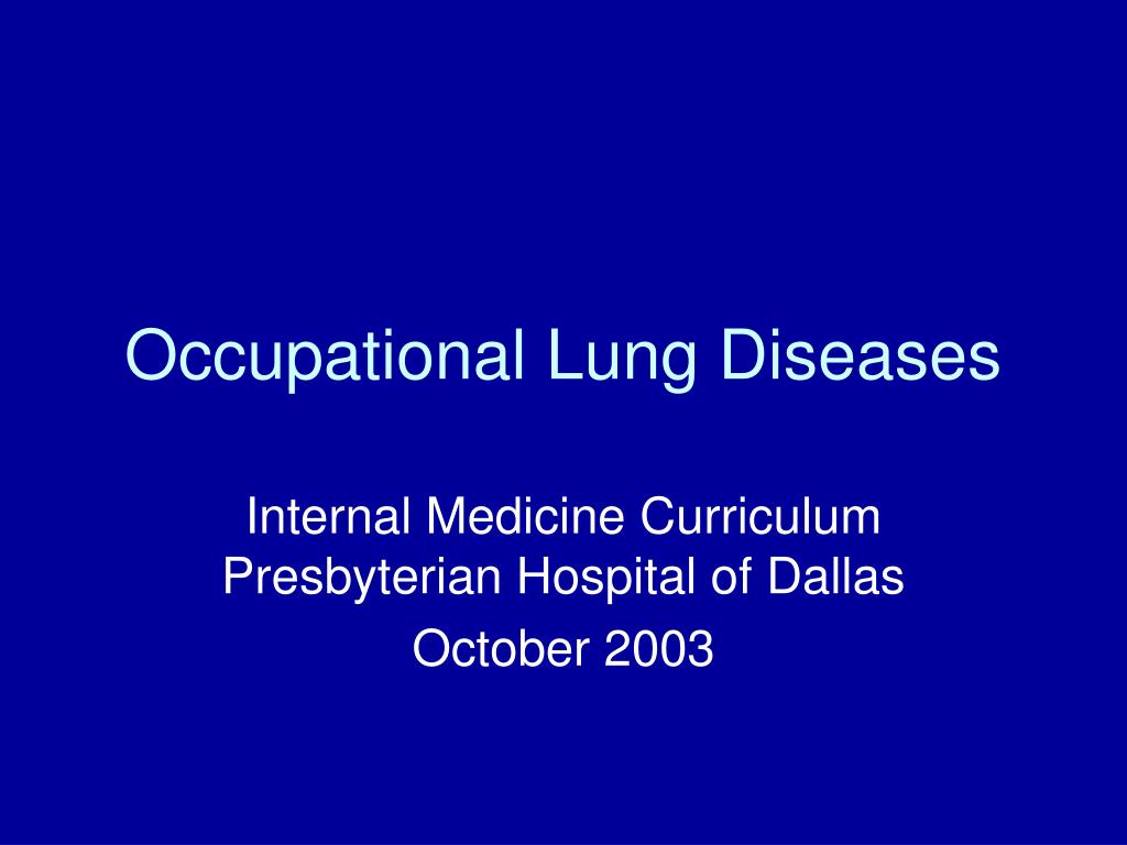 occupational lung diseases l.
