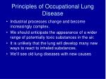 principles of occupational lung disease