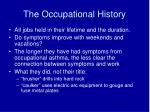 the occupational history