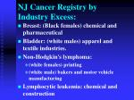nj cancer registry by industry excess1