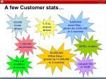 a few customer stats
