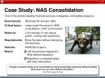 case study nas consolidation