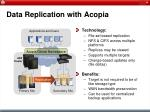 data replication with acopia