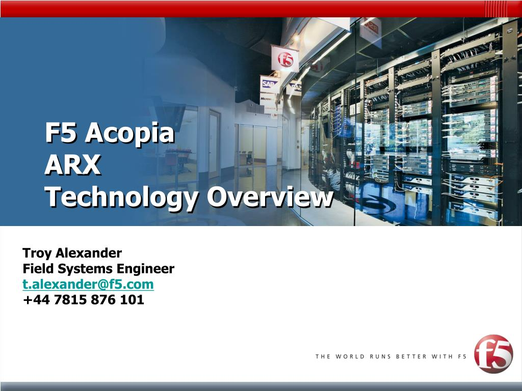 f5 acopia arx technology overview l.