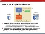 how is f5 acopia architecture