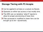 storage tiering with f5 acopia30