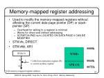 memory mapped register addressing