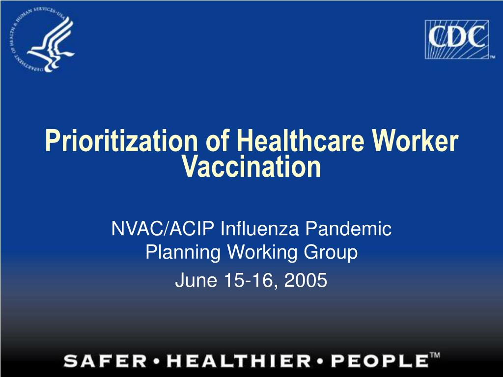 prioritization of healthcare worker vaccination l.