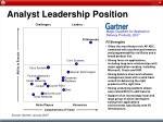 analyst leadership position
