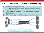 oneconnect connection pooling