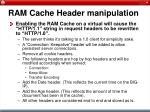 ram cache header manipulation